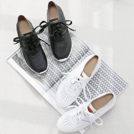 Dots Platform Moccasin Round Toe Casual Style Unisex