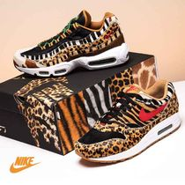 Nike AIR MAX Leopard Patterns Faux Fur Street Style Sneakers