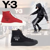 Y-3 Plain Leather Sneakers