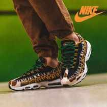 Nike AIR MAX 95 Leopard Patterns Faux Fur Street Style Sneakers