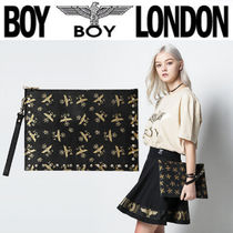 BOY LONDON Unisex Faux Fur Street Style Other Animal Patterns Clutches