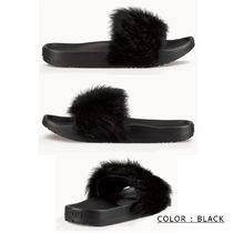UGG Australia Open Toe Casual Style Fur Plain Sandals