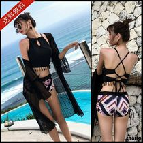 Halter Fringes Tribal Beach Cover-Ups