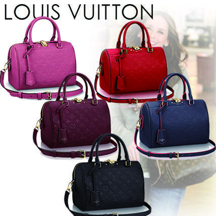 Louis Vuitton Handbags Monogram Casual Style 2WAY Plain Leather Handbags