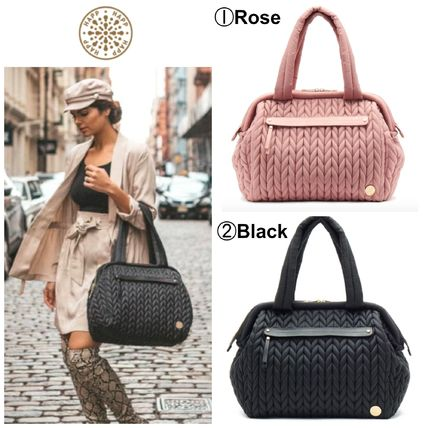 Casual Style A4 Logo Bags