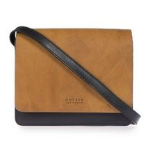 O MY BAG Casual Style Bi-color Leather Crossbody Shoulder Bags