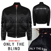 ONLY THE BLIND Short Street Style Plain Varsity Jackets