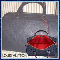 Louis Vuitton SPEEDY Monoglam Blended Fabrics 3WAY Bi-color Leather Elegant Style