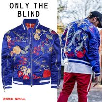 ONLY THE BLIND Short Flower Patterns Street Style Souvenir Jackets