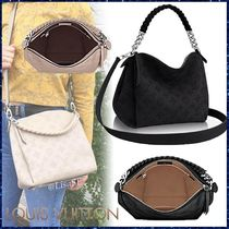 Louis Vuitton MAHINA Monoglam Blended Fabrics 3WAY Chain Leather Elegant Style