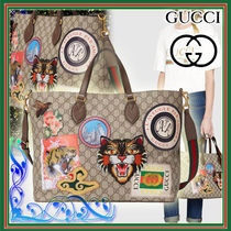 GUCCI Monogram Canvas A4 2WAY Other Animal Patterns Totes