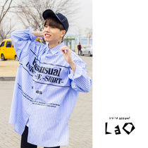 Street Style Long Sleeves Oversized Shirts