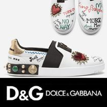 Dolce & Gabbana Heart Leather Loafers & Slip-ons