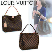 Louis Vuitton DAMIER Monogram Casual Style Canvas A4 2WAY Shoulder Bags