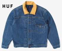 HUF Denim Street Style Denim Jackets Jackets