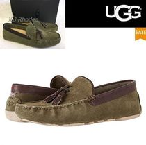 UGG Australia Driving Shoes Suede Tassel Plain Loafers & Slip-ons
