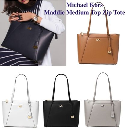 Michael Kors Totes A4 Plain Leather Office Style