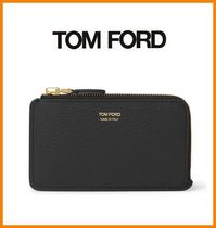 TOM FORD Plain Leather Card Holders