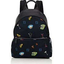 FENDI Flower Patterns Backpacks
