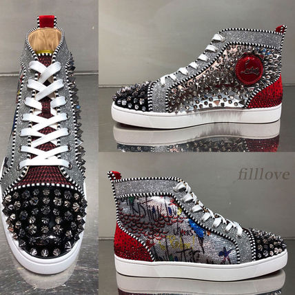 e3ef53b36ca Christian Louboutin 2018 SS Blended Fabrics Studded Sneakers by filllove -  BUYMA