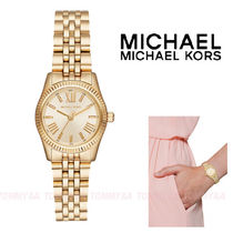 Michael Kors Round Quartz Watches Stainless Office Style Analog Watches