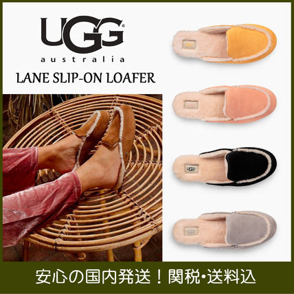 0464ee3b1f6 UGG Australia LANE 2018 SS Plain Toe Rubber Sole Casual Style Suede Plain  Slippers
