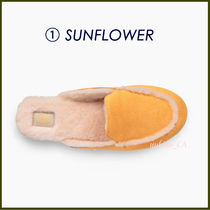 UGG Australia LANE Plain Toe Rubber Sole Casual Style Suede Plain Slippers