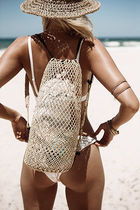 SURRENDER THE LABEL Plain Straw Bags