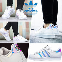 adidas SUPERSTAR Casual Style Unisex Street Style Plain Leather