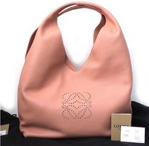 LOEWE Casual Style Plain Leather Shoulder Bags