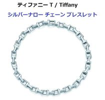 Tiffany & Co Tiffany T Unisex Chain Silver Elegant Style Fine