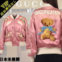 GUCCI Casual Style Other Animal Patterns Medium Varsity Jackets