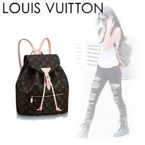 Louis Vuitton MONOGRAM Monogram Casual Style Canvas 2WAY Backpacks