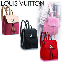 Louis Vuitton LOCKME Casual Style 2WAY Plain Leather Backpacks