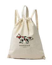MAISON KITSUNE A4 Other Animal Patterns Backpacks