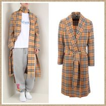 Burberry Other Check Patterns Wool Long Coats
