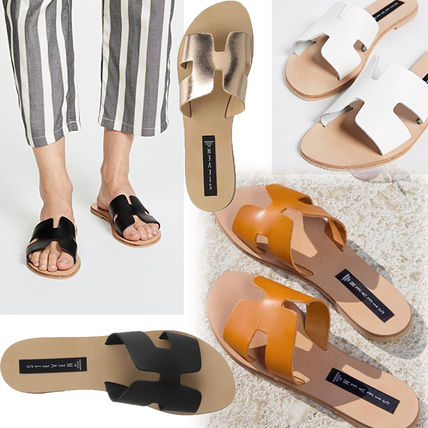 Plain Leather Sandals Sandals