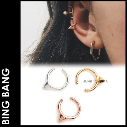 Casual Style 14K Gold Earrings & Piercings