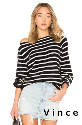 Stripes Long Sleeves Cotton Sweaters