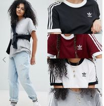 adidas Casual Style Unisex Street Style U-Neck Cotton Medium