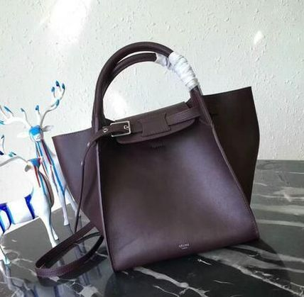 CELINE Totes A4 2WAY Plain Leather Totes 7