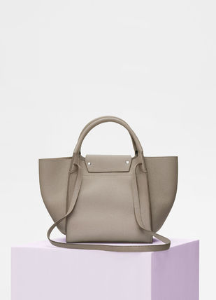 CELINE Totes A4 2WAY Plain Leather Totes 11