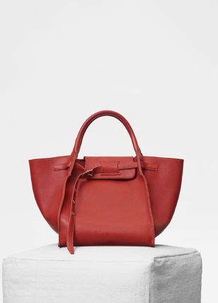 CELINE Totes A4 2WAY Plain Leather Totes 15