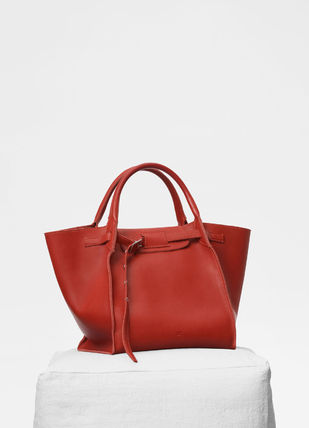 CELINE Totes A4 2WAY Plain Leather Totes 16