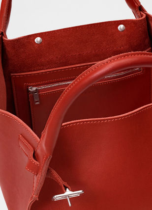CELINE Totes A4 2WAY Plain Leather Totes 17