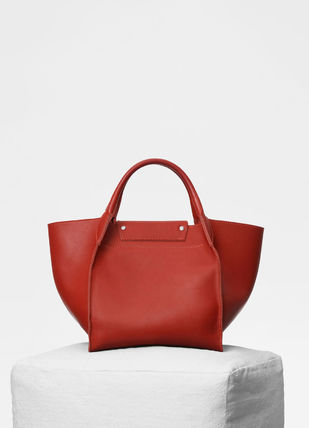 CELINE Totes A4 2WAY Plain Leather Totes 18