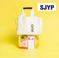 SJYP Casual Style Cambus Plain Shoppers
