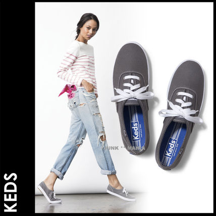 Plain Toe Casual Style Street Style Plain Low-Top Sneakers