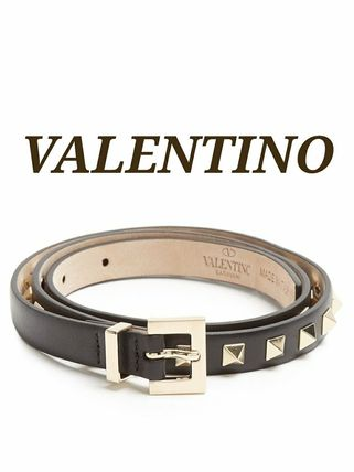 Studded Plain Leather Elegant Style Belts