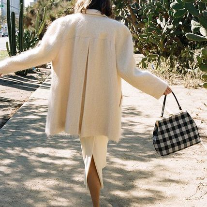 Gingham Casual Style Cambus Street Style Handbags